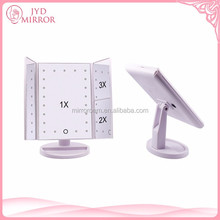 3 way 16 LED lights 3X magnification rotable girls vanity table mirror