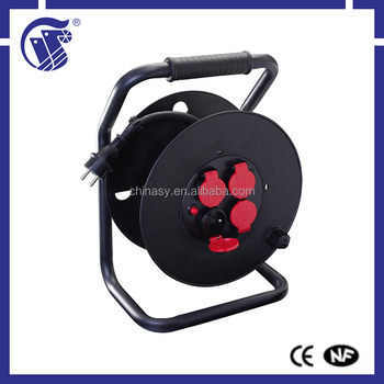 Industrial equipment black high quality small retractable cable reel