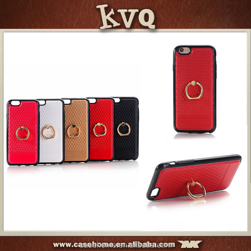 New Fashion Rock Serie Ring Stand Hard Back Case for iPhone 6,single ring display case