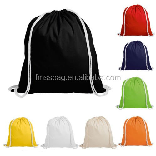 Handmade Colorful Bags Cotton Canvas Drawstring Bag