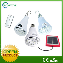 High quality LED solar comping light Solar power LED hanging bulb light Mini camping bulb lamp with battery