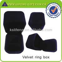 wholesale ring box high quality velvet ring box