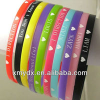 fashion wholesale Business/ Promotion/ Party/ Sports/ Gift/ Holiday/ Wedding for memorial wristbands
