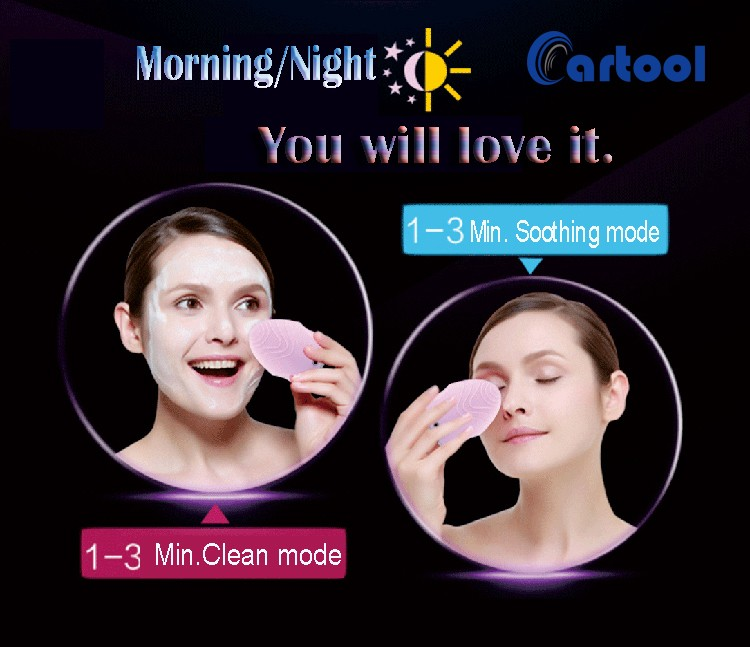 High Quality Medical Silicone Mini Face Cleansing facial brush Electric Sonic Facial Cleaner