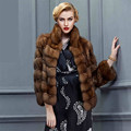 Women Fashion Sable Fur Coats Luxury Real Sable Fur Coats for Men and Women