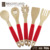 5 pc Wooden Kitchen Tools Spoons Spatula Wooden Cooking Mixing Utensils