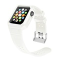 BRG silicone watch strap for Apple watch,One-piece rubber watch strap