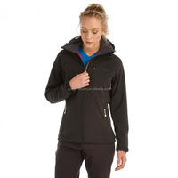 2016 Wholesales Women Winter Softshell Jacket in Black Colour