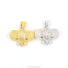 fashion animal jewelry micro pave CZ elephant pendant for necklace making