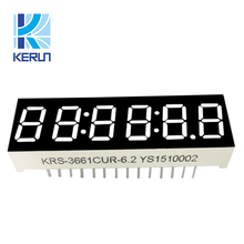 Free sample 3661bs customized full color 0.36 inch led display 6 digit 7 segment for home appliance