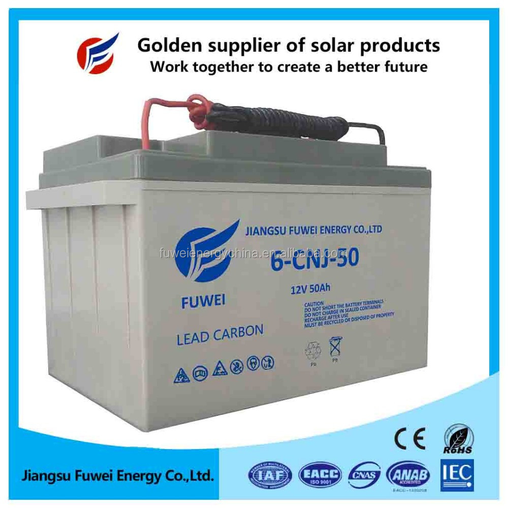 12V 40Ah / 50 AH Solar Storage Battery Gel / AGM SERIES Jiangsu Province