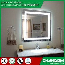 GY102 Hight quality plate metal LED bathroom wall hanging mirror