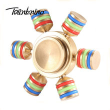 Copper hand spinner amazon hot selling 6 Heads fidget spinner