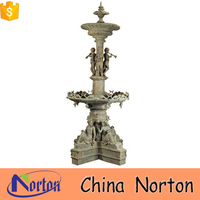 children bronze outdoor water fountain for sale NTBF-M116X