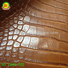 Brown solid crocodile leather for bags shoes sofa material