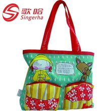 2012 Girls Large Tote Bags For School With 600D