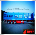60 ton 3 axles Cargo Box semi trailer,transport livestock,bags cargo made in China