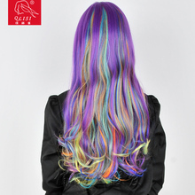 New Design Fashionable Colorful Human Hair Party Wigs For Women