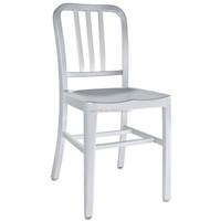 Aluminum modern navy dining chairs