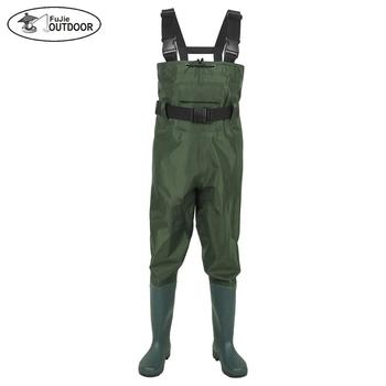 Bootfoot Chest Wader PVC Waterproof Fishing Waders