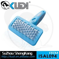 Pet bathing brush with non-slip handle