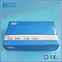 vinyl gloves powder free disposable pvc glove