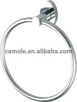 brass chrome polished bathroom towel ring wall mounted family hotel bathroom accessories set
