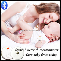 Baby Thermometer with Bluetooth 4.0 smart Baby Fever temperature 24h real-time monitoring via mobile ios and Android system