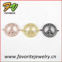 symbol multiple color micro paved rhinestone pendant jewelry