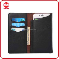 Factory Wholesale High Quality Pocket Purse Pouch 5 5.7 Inch Universal Wallet Leather Case For Various Smart Phone