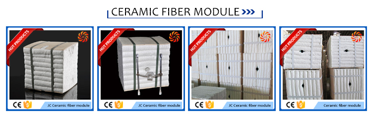 Ceramic fiber modules with S304 anchors