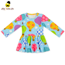 48BQA320-2 Long Sleeve Spring&Summer Casual Print Puffy Girl Party Dresses For 3 Year Old Girl Ball Gowns For Kids For Cheap