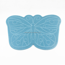 Quick dry diatomite butterfly shaped water absorbing diatomaceous earth non-slip foot bath mat