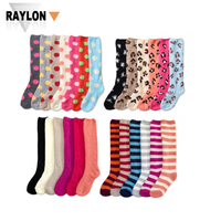 RL-1041 fuzzy knee high socks