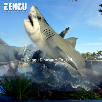 Foam Animatronic Indoor Shark Animals For Sale