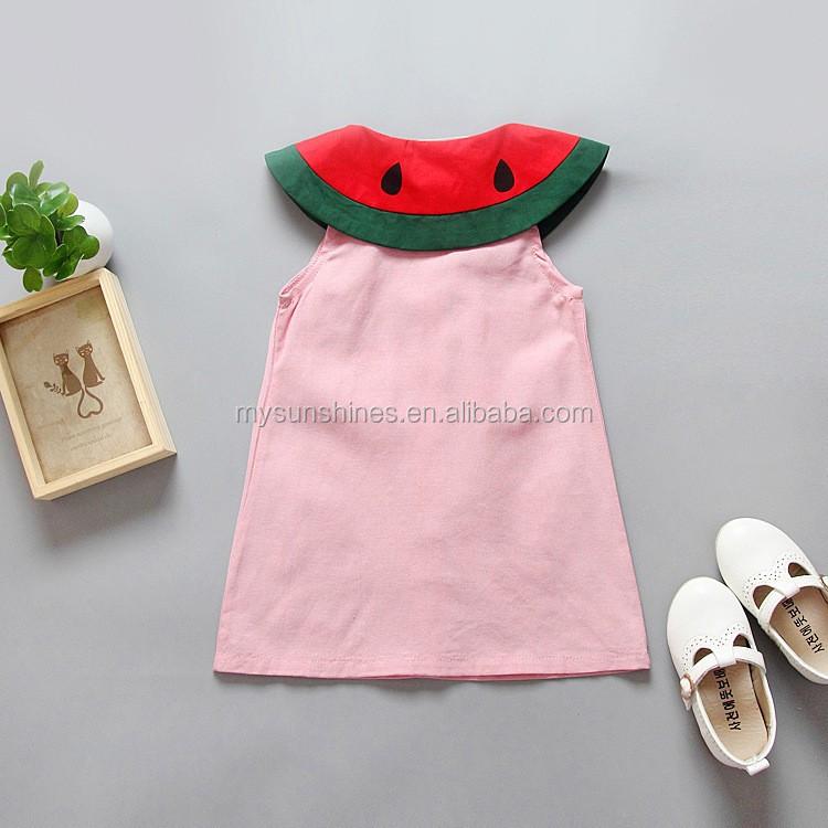 1-5Years Schöne Baby Shirts Wassermelone Muster Kleid Kinder ...