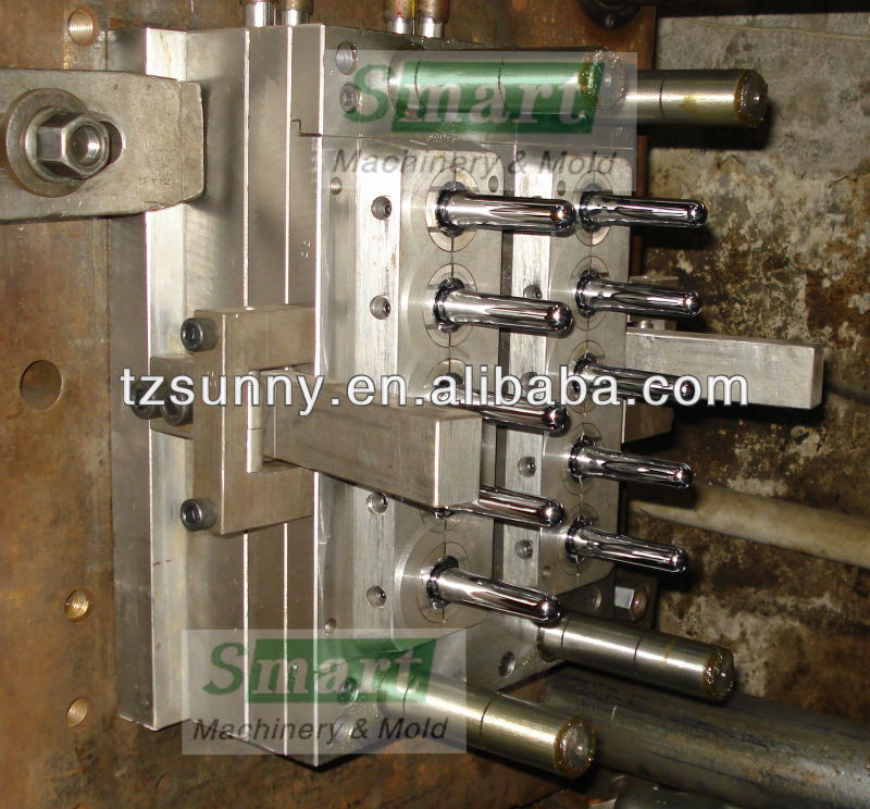 PET preform Mould with 10 cavity hot runner short tails for PCO28mm neck size 24g preform