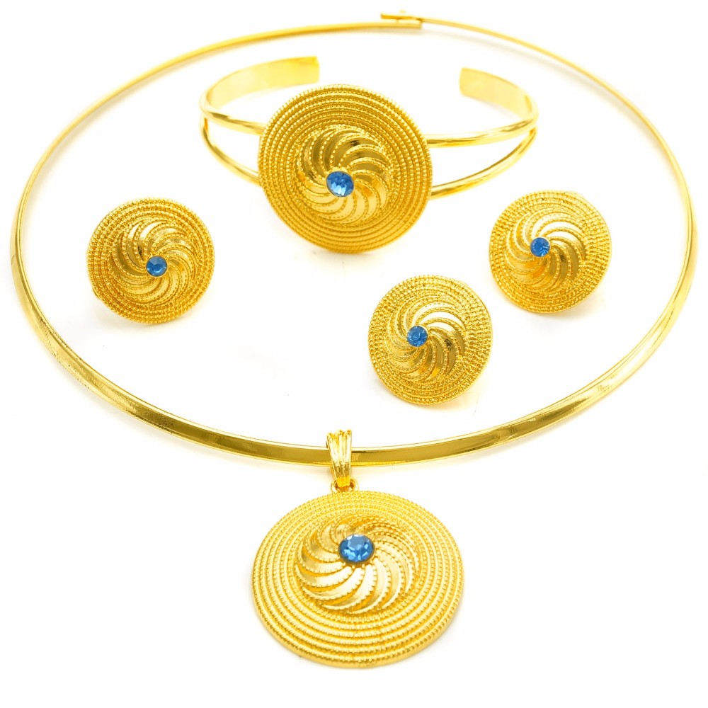 Wholesale gold pendant set design online buy best gold pendant set ethiopia 24k stronggoldstrong costume jewellery strongset aloadofball Images