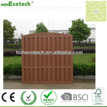 2017 new style fence Eco Friendly WPC Garden fence composite wood courtyard fence
