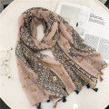 2018 fashion high quality viscose tribal aztec printed tassel scarf