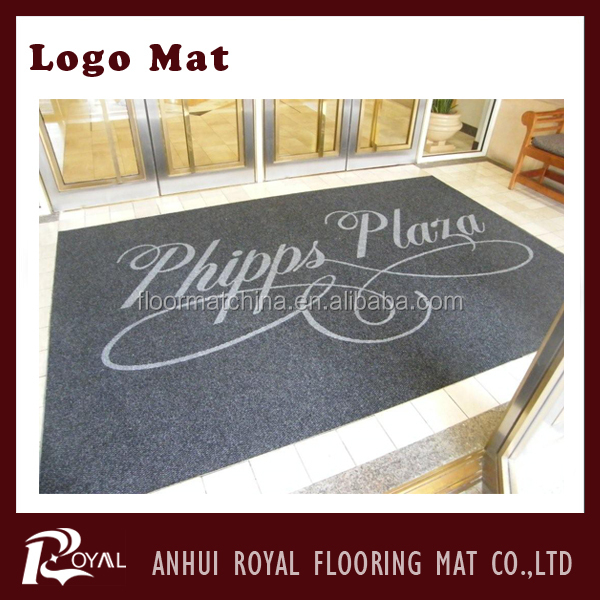 Gift Promotion Advertising Cheap Logo Mat/floor mat/aluminum mat
