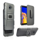 Multifunctional Full Protect Rugged Holster back Case for mobile phone with magnet adsorption for Samsung J4+