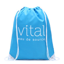 Custom newest colorful solid color promotional drawstring sport backpack 210D polyester drawstring back pack