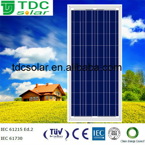 High efficiency poly solar module 130 watt solar panel