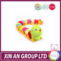 ICTI SEDEX BSCI high quality plush caterpillar worm toy