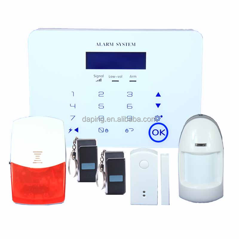 GSM/ PSTN dual moudle alarm anti intrusion with IOS and Android control alarm