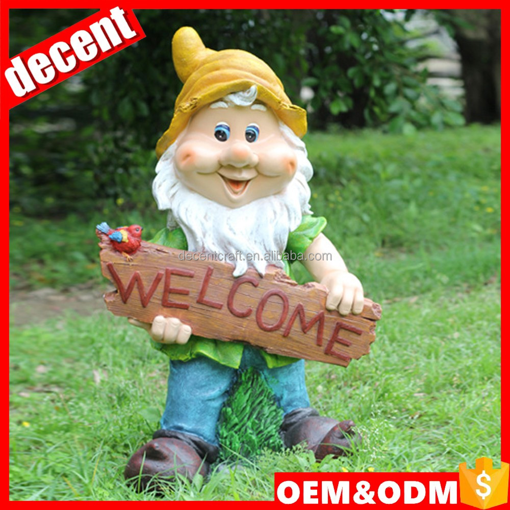 Welcome statue resin outdoor gnome mold