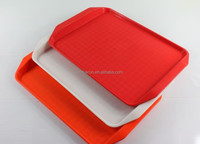 Anti-Slip Various Color Reusable Plastic Service Serving Tray