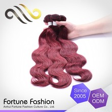 Specialized Produce Exceptional Can Be Colored Color 99J Hair Weave Red Braiding Human Hair
