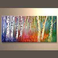Hot Sell Handmade Abstract Scenery Oil Painting